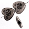Metal Heart Bead 15mm Antiue Silver